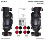 2014 Pod MX K700 Carbon Knee Brace - Pair